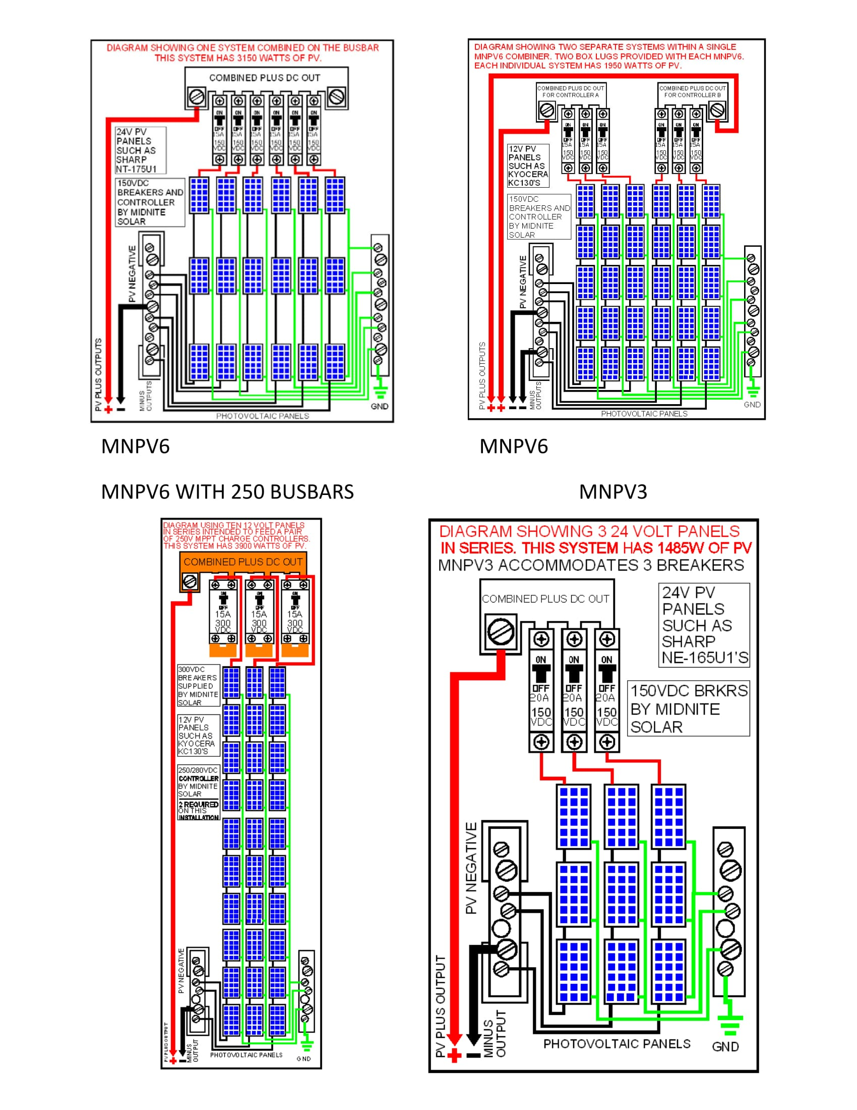 Midnite Pv Combiners Explained W Diagrams on Solar Panel Wiring Diagram