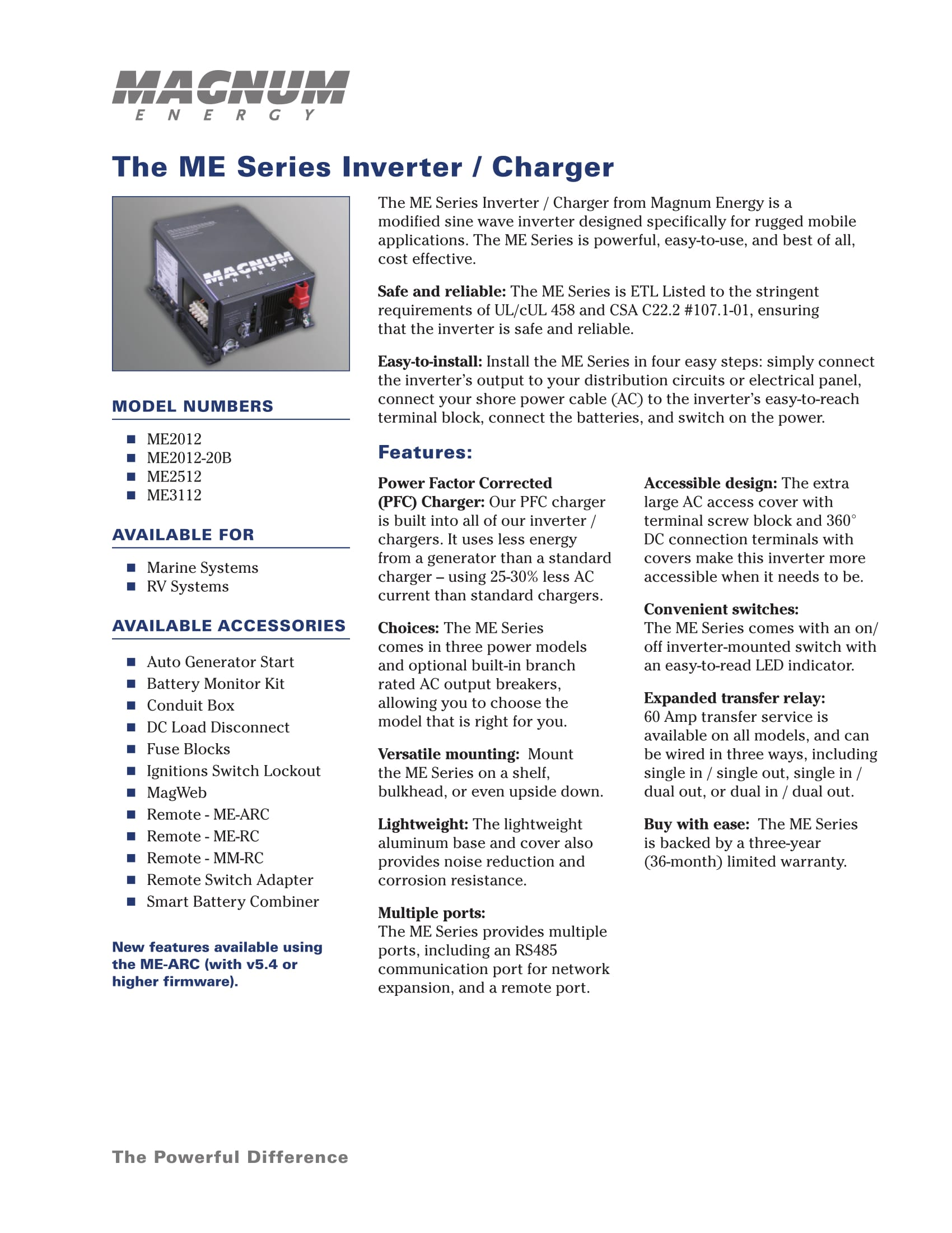 Magnum Energy Me2512 Inverter Led Indicator For Remote Ac Loads Introducing The Me Series Charger From Is Powerful And Cost Effective A New Generation It Designed