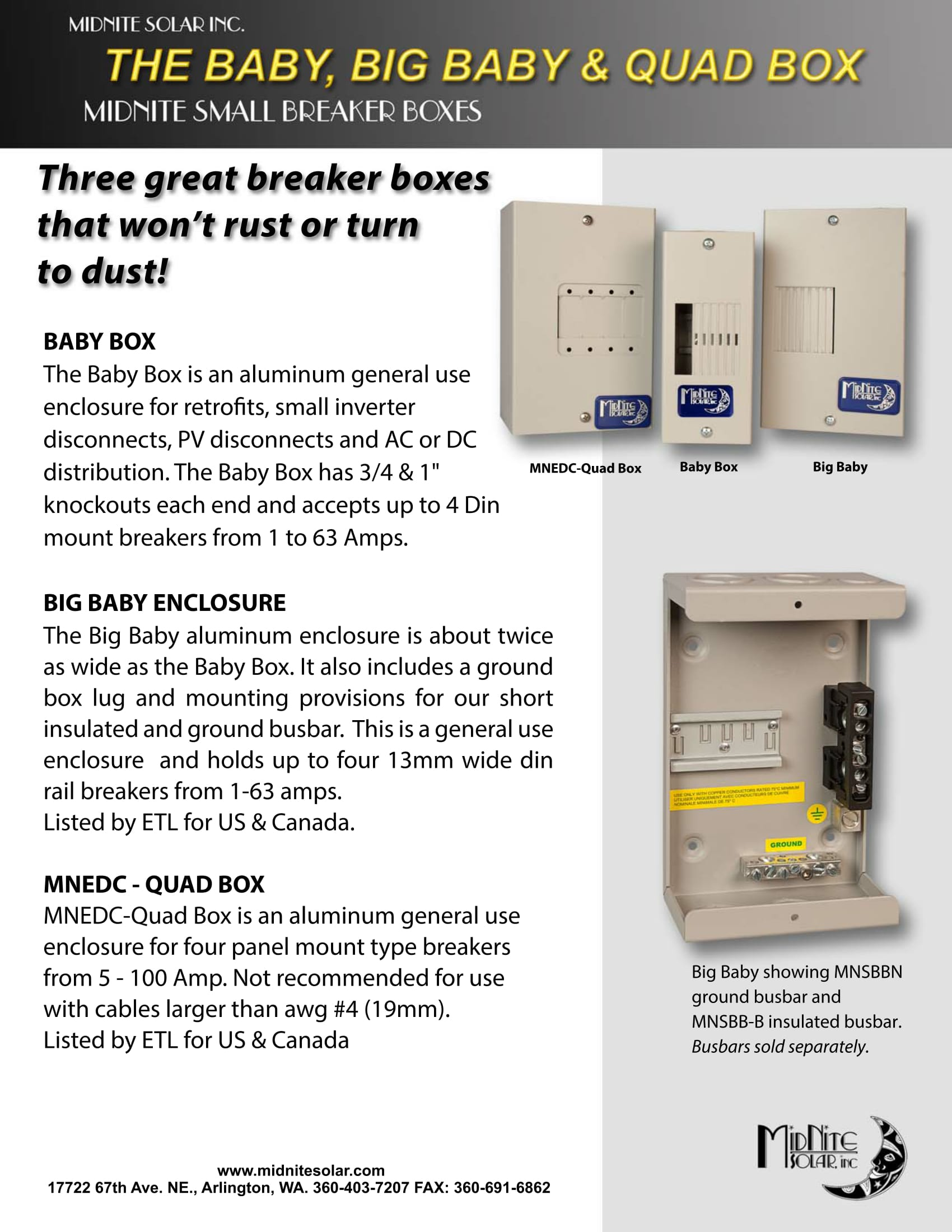 Midnite Solar Mn Quot Big Baby Quot Breaker Expansion Box